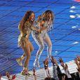 Jennifer Lopez et Shakira lors du show de la mi-temps du 54ème Super Bowl au Hard Rock Stadium à Miami, Floride, Etats-Unis, le 2 février 2020. © TNS/Zuma Press/Bestimage