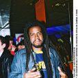 Tonton David prend la pose au concert de Billy Crawford au Pavillon Gabriel à Paris en 2002.
