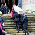 Obsèques du danseur étoile Patrick Dupond en l'église Saint-Roch à Paris, France, le 11 mars 2021.