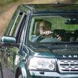Le prince Philip, duc d'Edimbourg, sort en voiture du Château de Balmoral le jour du 20ème anniversaire de la mort de la princesse Lady Di. Balmoral, le 31 août 2017.