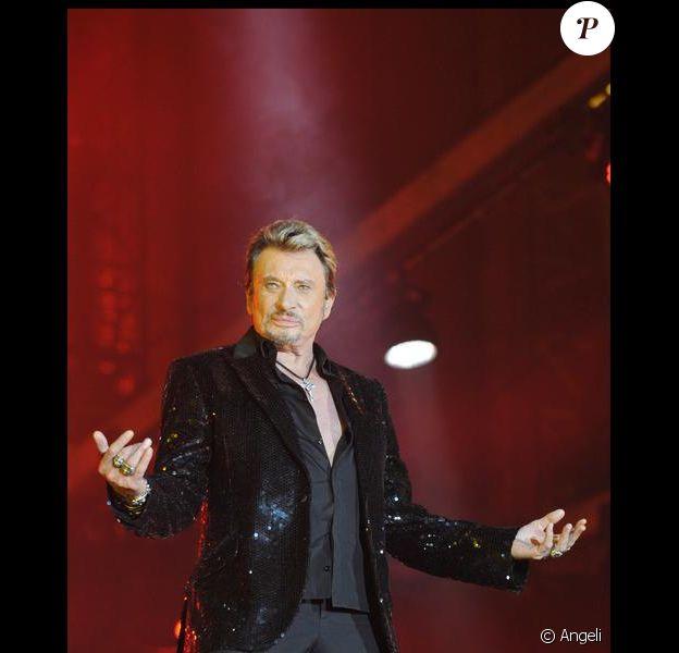 Johnny Hallyday sur scène, une bête comme toujours !