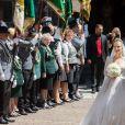 Cérémonie religieuse du Mariage du prince Ernst August Jr de Hanovre et de Ekaterina Malysheva en l'église Marktkirche de Hanovre le 8 juillet 2017