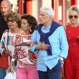 """Bernard Tapie et sa femme Dominique sont allés diner au restaurant """"Le Girelier"""" à Saint-Tropez. Le 15 juillet 2020"""