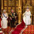 Camilla Parker Bowles, la duchesse de Cornouailles, le Prince Charles de Galles, la Reine Elisabeth II et le prince Philip, duc d'Edimbourg - Ceremonie d'ouverture du Parlement a Londres, le 8 mai 2013.