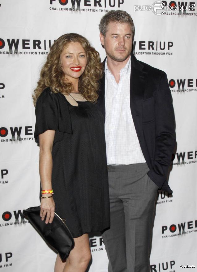 Rebecca Gayheart très enceinte et Eric Dane lors de la soirée des Power Premiere Awards 2009 au Social Hollywood le 1er novembre 2009