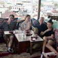 Michael Douglas, Catherine Zeta-Jones et leurs deux enfants, Michael et Carys. Décembre 2020.