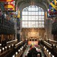 Funérailles du prince Philip, duc d'Edimbourg à la chapelle Saint-Georges du château de Windsor, Royaume Uni, le 17 avril 2021.
