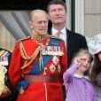 Le prince Philip, Lady Louise Windsor et Kate Middleton lors de la parade Trooping The Colour à Londres en 2012.