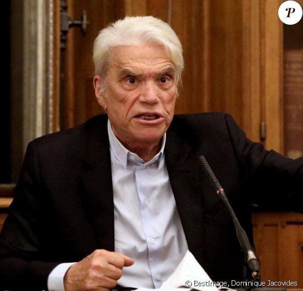 Exclusif - Bernard Tapie à la bibliothèque de l'ordre à Paris. © Dominique Jacovides / Bestimage