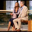 Yves Rénier et Ingrid Chauvin sur le tournage du téléfilm Le monsieur d'en face pour TF1