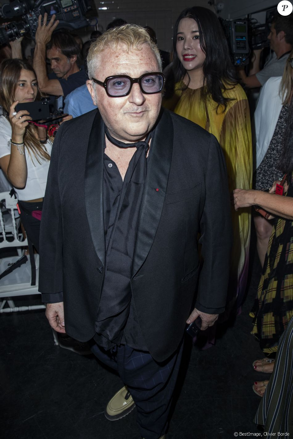 Alber Elbaz au défilé de mode Haute-Couture automne-hiver 2019/2020 Jean  Paul Gaultier à Paris. Le 3 juillet 2019 © Olivier Borde / Bestimage -  Purepeople