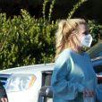 Exclusif - Une des première sorties de Britney Spears depuis l'épidémie de coronavirus (COVID-19). Los Angeles, le 16 mars 2021.