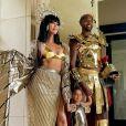 Khloé Kardashian, le basketteur Tristan Thompson et leur fille True déguisés pour Halloween. Octobre 2020.
