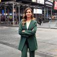 """Jessica Alba assiste à l'introduction en bourse de sa société """"Honest"""" au Nasdaq. New York, le 5 mai 2021."""