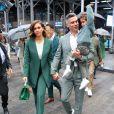 Jessica Alba, son mari Cash Warren et leur fils Hayes au Nasdaq à New York, le 5 mai 2021.