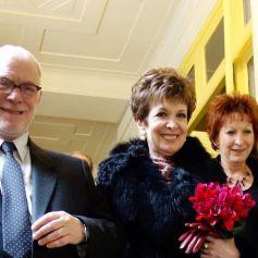 Exclusif - Mariage de Catherine Laborde et Thomas Stern le samedi 9 novembre 2013 à la mairie du 2e arrondissement de Paris.