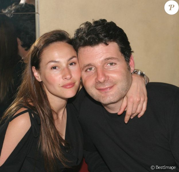 Vanessa Demouy et Philippe Lellouche à Paris.