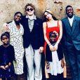 Les six enfants de Madonna (Esther, Mercy, Rocco, Lourdes, Stella et David) célèbrent Thanksgiving au Malawi le 22 novembre 2018.