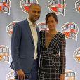 Tony Parker et Alizé Lim lors de la cérémonie Basket Hall Of Fame, dans le Connecticut. C'est le premier tapis rouge pour les amoureux.