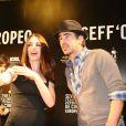 Le comédien Colin Farrell et la belle Paz Vega, lors de l'avant-première de  Triage , de Danis Tanovic, dans le cadre du 6e Festival Européen du Film de Séville, le 6 novembre 2009.