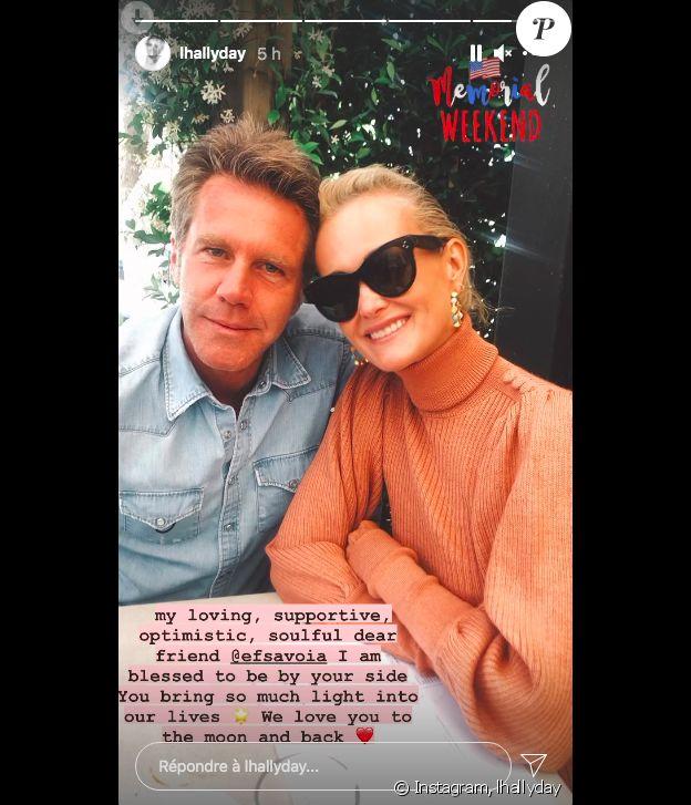 Laeticia Hallyday et son ami le prince Emmanuel-Philibert de Savoie sur Instagram, le 1er juin 2021.
