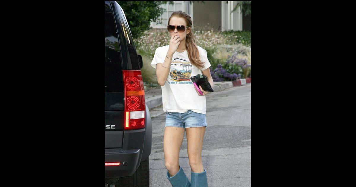 Lindsay Lohan à l'époque où elle a perdu beaucoup trop de