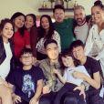 """Olivier Gayat au casting de """"Familles Nombreuses, la vie en XXL"""" avec sa femme et leurs neuf enfants - Instagram"""
