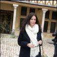 Astrid Veillon lors de la 149e vente des Hospices de Beaune, le 15/11/09