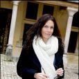 Astrid Veillon, une future maman épanouie, lors de la 149e vente des Hospices de Beaune, le 15/11/09