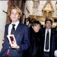 Patrick Bruel, Quentin Mosimann et Andrea Casiraghi lors de la 149e vente des Hospices de Beaune, le 15/11/09