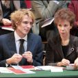 Andrea Casiraghi et Véronique Colucci lors de la 149e vente des Hospices de Beaune, le 15/11/09