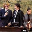 Patrick Bruel et Andrea Casiraghi lors de la 149e vente des Hospices de Beaune, le 15/11/09