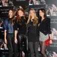 Georgina Storilijtoric, Lily Cole, Meloes Horst et Daisy Lowe lors du photocall à Londres pour le calendrier Pirelli le 19/11/09