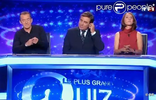 Alexia Laroche-Joubert, Jean-Pierre Foucault, Christophe Dechavanne et Sandrine Quétier offriront la semaine prochaine la somme de 250 000 euros au grand gagnant du  Plus Grand Quiz de France .