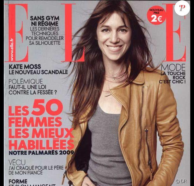 Charlotte Gainsbourg en couverture de ELLE