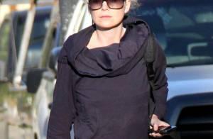 Ellen Pompeo : Toujours pas de sourire et... un look négligé !