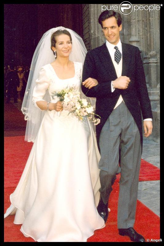 L'Infante Elena d'Espagne et son futur ex-époux Jaime de Marichalar