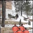 """""""L'arrivée de Roman Polanski dans son chalet de Gstaad, le 4 décembre 2009."""""""