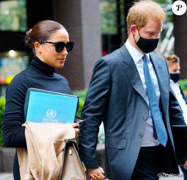 Le prince Harry et sa femme Meghan Markle à New York.