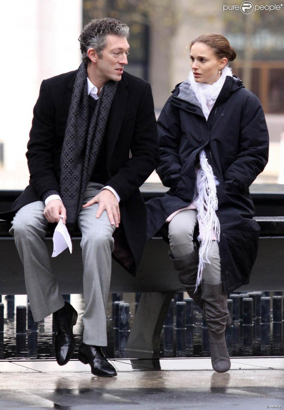 Vincent Cassel et Natalie Portman sur le tournage de Black ...