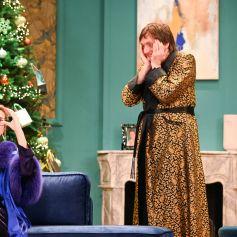 """Virginie Hocq et Pierre Palmade - Filage de la pièce de théâtre """"13 à table"""" au Théâtre Saint-Georges à Paris. Le 18 décembre 2020. © Coadic Guirec / Bestimage"""