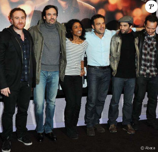 L'équipe du film lors de l'avant-première de Mensch à Paris le 8 décembre 2009.