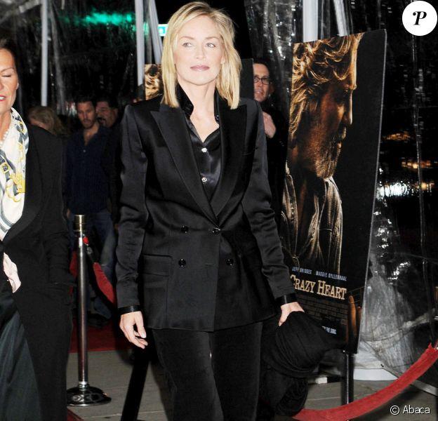 Sharon Stone lors de la première du film Crazy Heart à Los Angeles le 8 décembre 2009