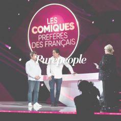 Laurence Boccolini entourée de Pierre Palmade et d'Anne Roumanoff pour Les Comiques préférés des Français