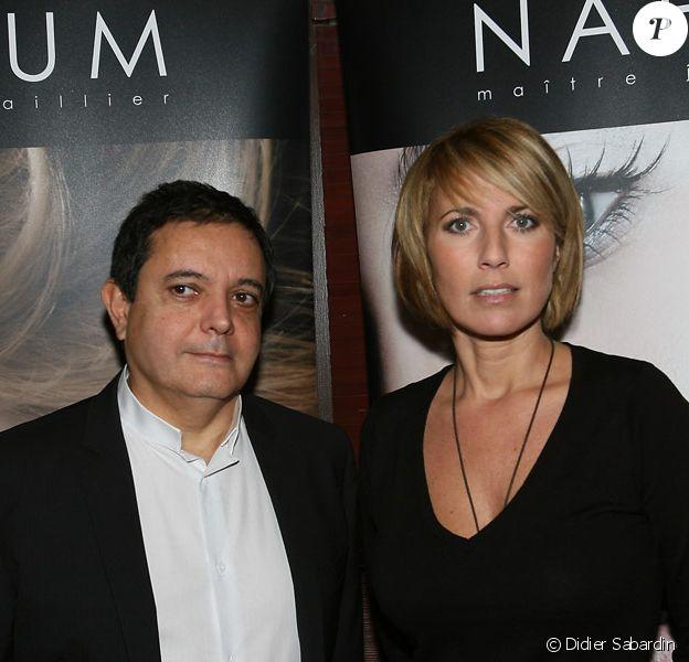 Edouard Nahum et Natacha Amal lors de la soirée du joaillier Edouard Nahum à Paris le 13 décembre 2009