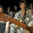Les frères Bogdanoff et Francis Lalanne jouant de la guitare et du banjo dans les Enfants de Temps X sur scifi.fr