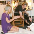 Photos exclusives : Johnny et Laeticia avec Joy en loge avant le Stade de France en mai 2009