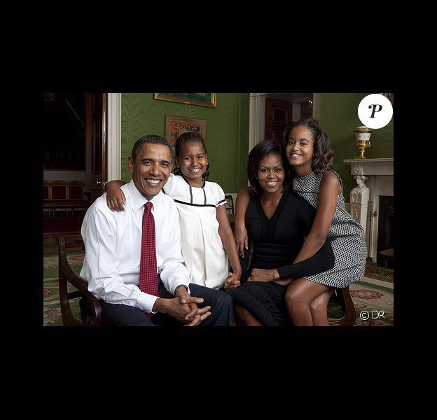 Michelle, Barack, Sasha et Malia Obama