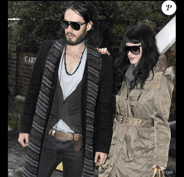 Les amoureux Katy Perry et Russell Brand