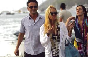 EXCLU : Lindsay Lohan sort son coup de poing à Saint Barth'... pour défendre sa soeur ! Ça fait mal !